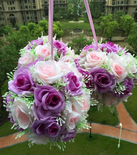 "6"" (15cm)Wedding Kissing Balls Silk Flower Balls"