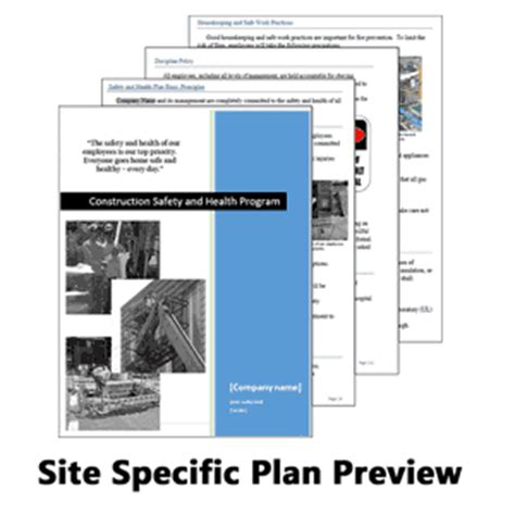 site specific safety plan template a construction safety and health plan xo safety