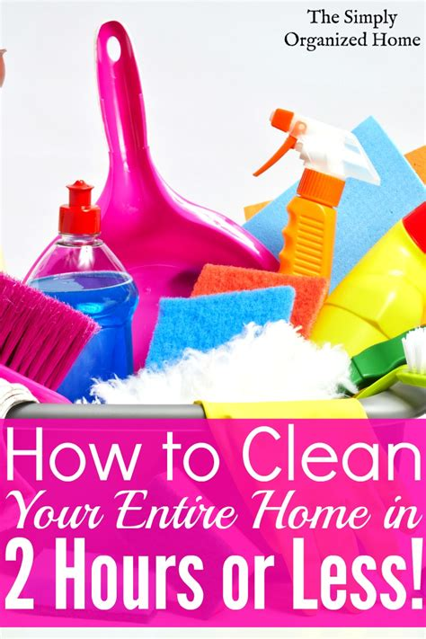clean your home speed cleaning checklist clean your home in 2 hours or