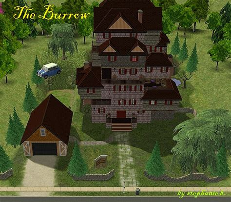 The Burrow Floor Plan mod the sims harry potter collection the burrow 2