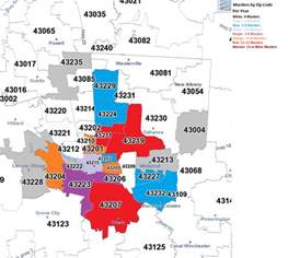Columbus Oh Zip Code Map zip code all columbus ohio data