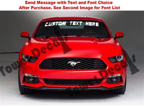 ford mustang windshield decals custom text windshield banner vinyl decal fits ford