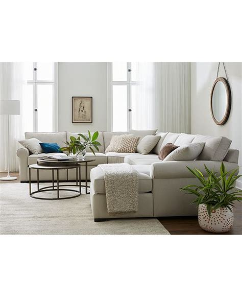 Macys Sectional by Furniture Astra Fabric Sectional Collection Created For