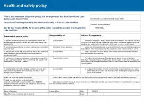 risk assessment amp health and safety