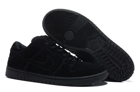 nike dunk low pro sb all black shoes