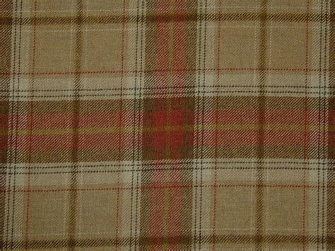 Tartan Plaid Upholstery Fabric by Curtain Fabric 100 Wool Tartan Oatmeal Check Plaid