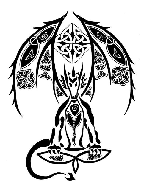 celtic tribal dragon tattoo 95 best s images on designs