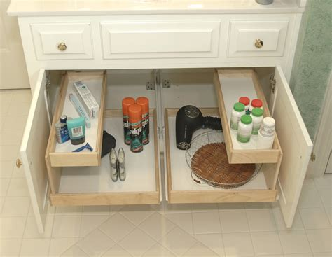 bathroom vanity slide out shelves challenge 13 the bathroom sink the seana method