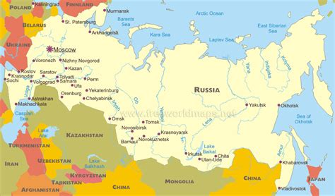 map of siberia russia with cities top ranking towns cities of russia w r t population