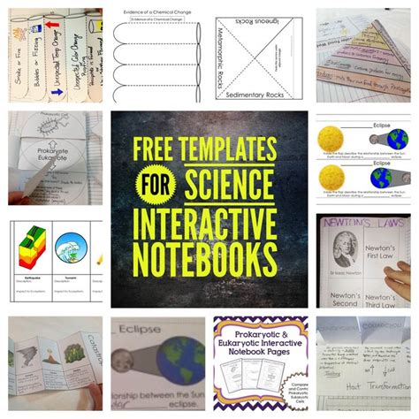 free interactive notebook templates free templates for science interactive notebooks