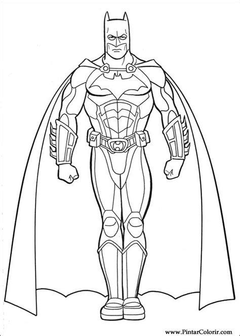 batman begins coloring pages drawings to paint colour batman print design 032