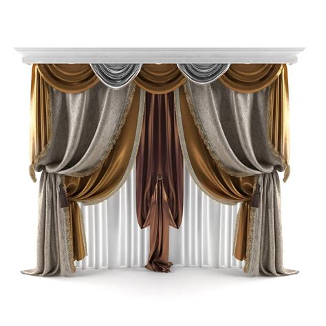 curtain models 3d classical curtains model