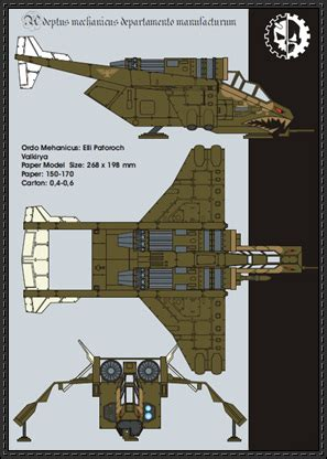 imperial assault card template new paper craft warhammer 40k valkyrie ver 2 free