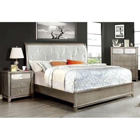 3 King Bedroom Set by Furniture Of America Lilliane 3 Sleigh California