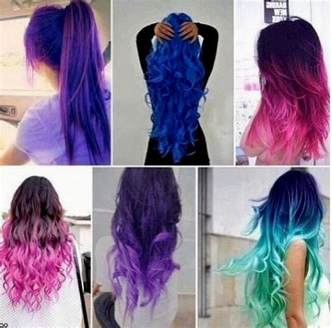 colored ombre hair colored ombre hair 2015 pink blue purple green and