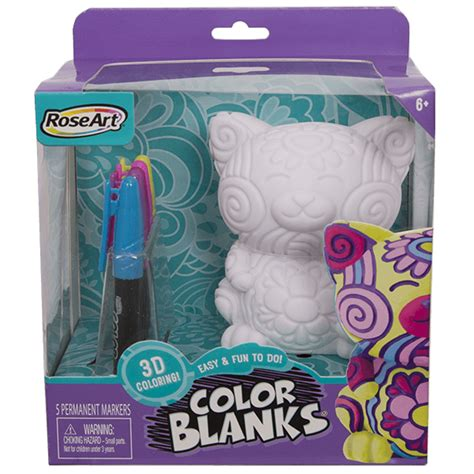 color blanks color blanks 3d coloring cat