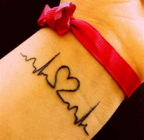 heart rate tattoo lock pictures and images