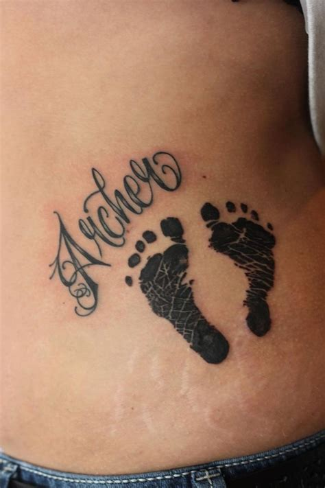 child name tattoos foot child baby name tats