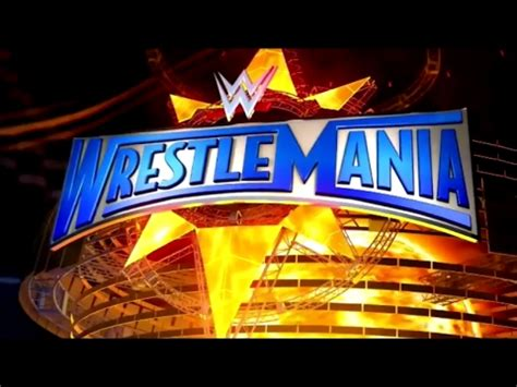 Wm 33 Card Template by Wrestlemania 33 Official Graphics Package Hd