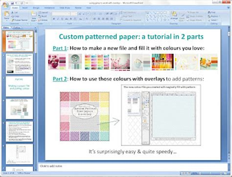 gimp tutorial powerpoint mel stz how to make your own custom coloured papers
