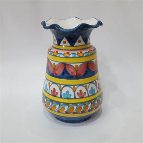 vaso portafiori vaso portafiori arte in ceramica vietrese