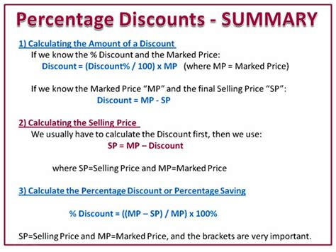 Promotion Mba Math by Image Gallery Percentage Formula