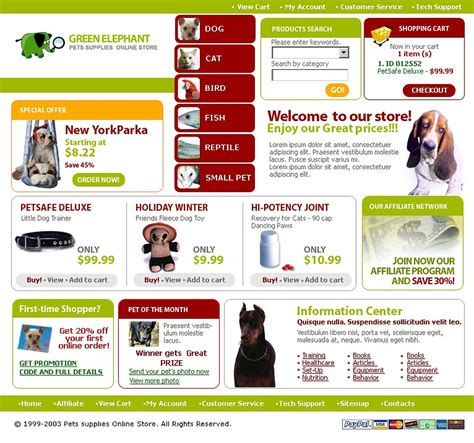 Pet Shop Website Template 3853 Free Pet Store Website Templates