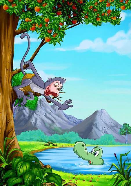 monkey   crocodile    famous story