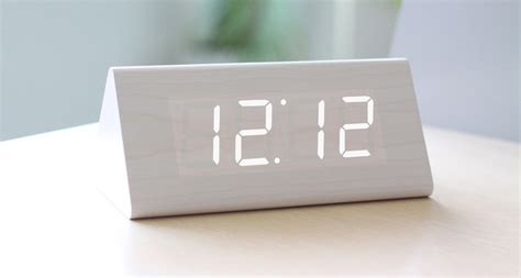 desk alarm clock led wood block desk alarm clock feelgift