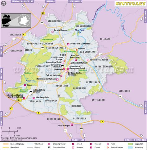 stuttgart on map stuttgart map map of stuttgart germany