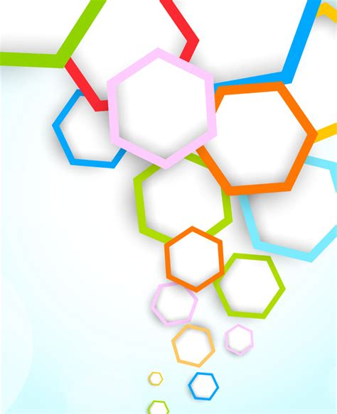 backdrop design graphic free abstract colored hexagon background vector titanui