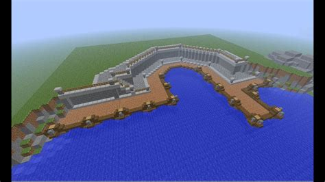 minecraft boat town minecraft medieval small town port tutorial how to build