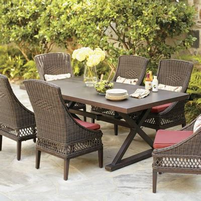 wicker patio furniture sets  home depot