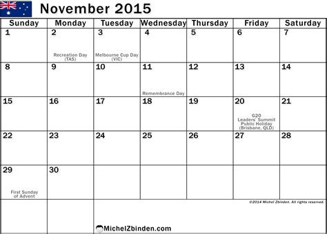 printable calendar november 2015 with holidays 9 best images of free printable november 2015 calendar