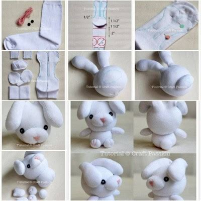 diy sock bunny how to make sew sock bunny step by step diy tutorial how to