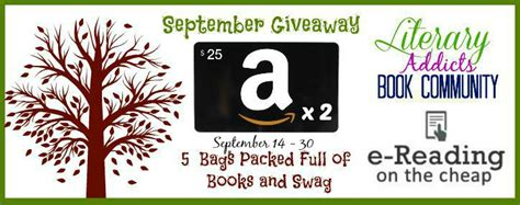 Kobo Gift Card Not Working - september giveaway 2 25 amazon gift card and 5 book swag packs