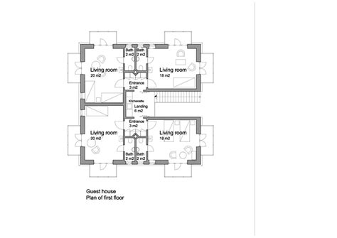technical floor plan triyae com backyard guest house floor plans various