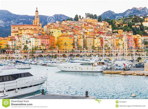 French European House Plans by Port In Menton France Stock Image Image Of Landscape