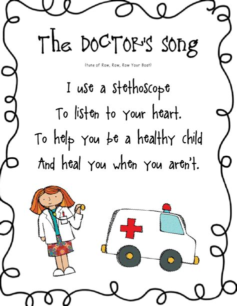 theme songs for kindergarten community helpers pack pdf school ideas pinterest