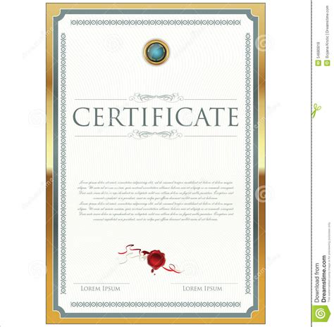 certificate template illustrator certificate template stock illustration image 54680818