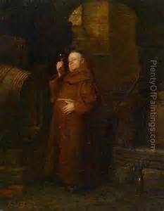 Monk At The Wine Tasting Oil Painting Reproduction By