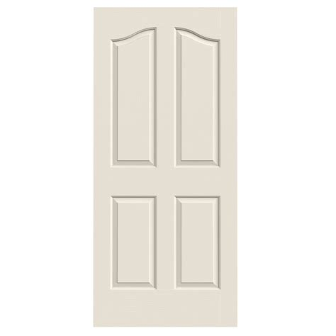 Interior Slab Doors Shop Reliabilt 4 Panel Arch Top Hollow Textured Non Bored Interior Slab Door Common 36 In