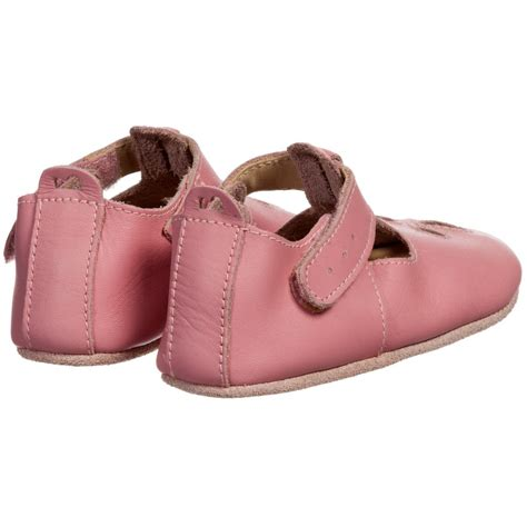 Fuchsia Prewalkerheels bobux soft sole pink leather pre walker shoes childrensalon