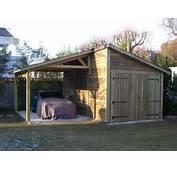 Garage ANJOU Avec Appentis 3 M X 550 En Bois Gamme