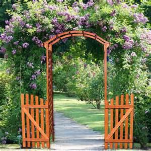 arche de jardin en bois avec 2 portes pas cher