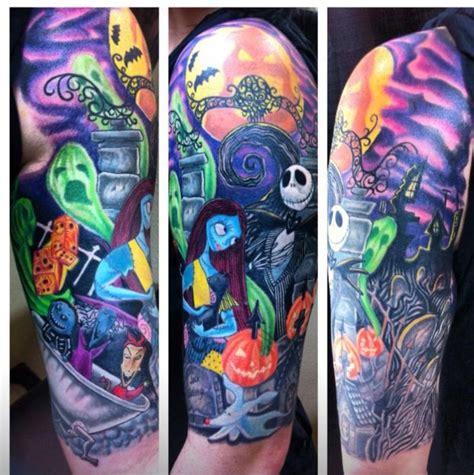 nightmare before christmas tattoos designs nightmare before half sleeve by smallz ec