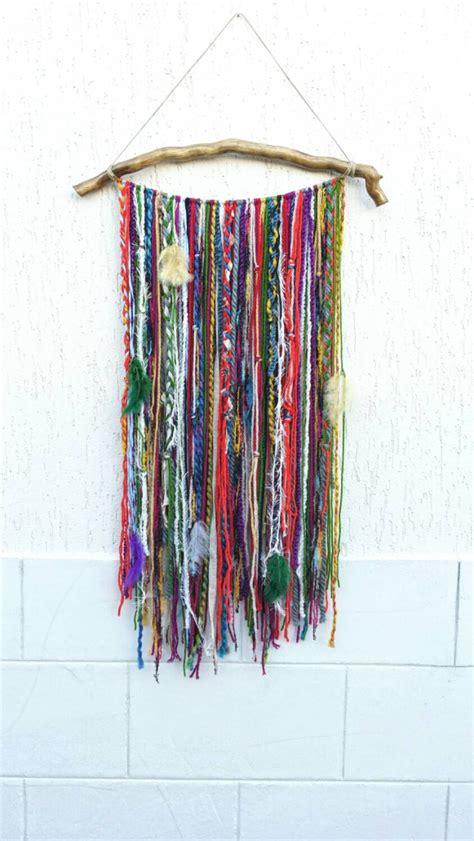 hanging art bohemian decor boho garland wall hanging wall tapestry yarn