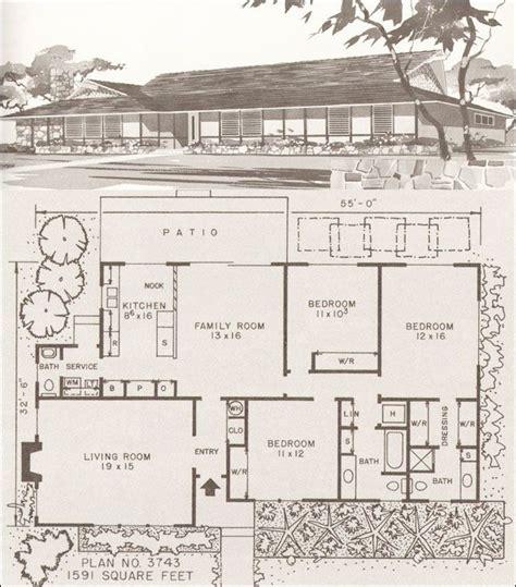 Modern Ranch Floor Plans Mid Century Modern House Plans Modern Homes Modern Hawaiian Style Ranch Mid Century