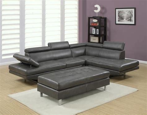 Gray L by Ibiza Sectional And Ottoman Set Furniture Distribution