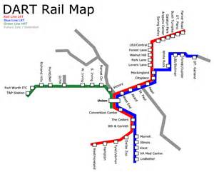 Dart Route Map by World Nycsubway Org Dart Dallas Area Rapid Transit